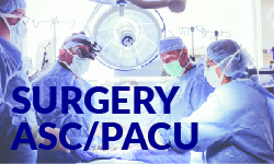 Surgery ASC PACU unit descriptions
